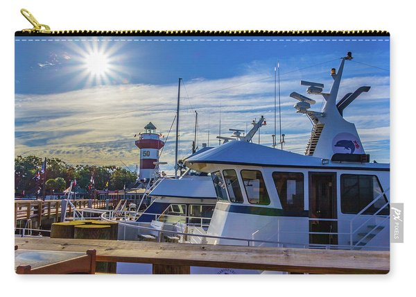 Habour Town Lighthouse And Marina Carry-all Pouch