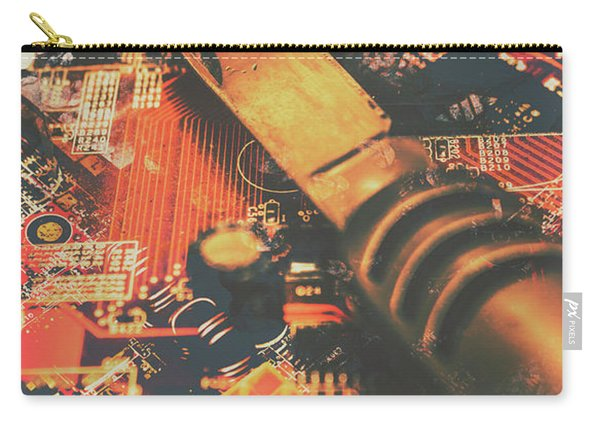 Hacking Knife On Circuit Board Carry-all Pouch