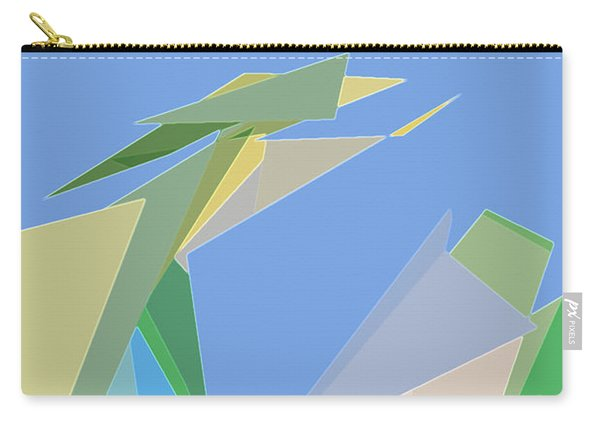 Carry-all Pouch featuring the digital art Hailing A Taxi by Gina Harrison
