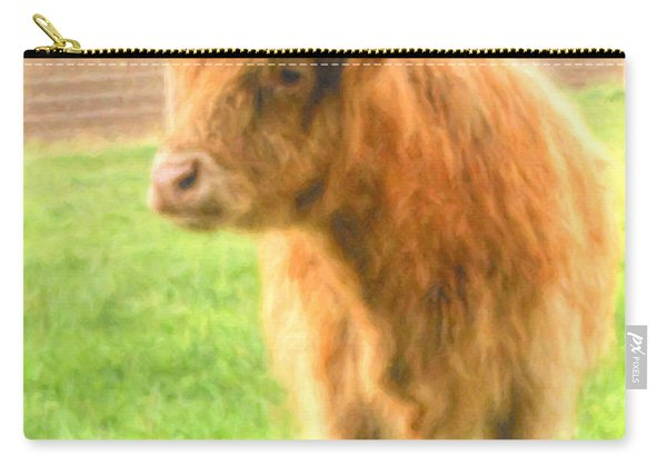 Carry-all Pouch featuring the photograph Hairy Coos by Garvin Hunter