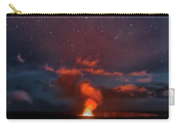 Halemaumau Crater At Night Carry-all Pouch