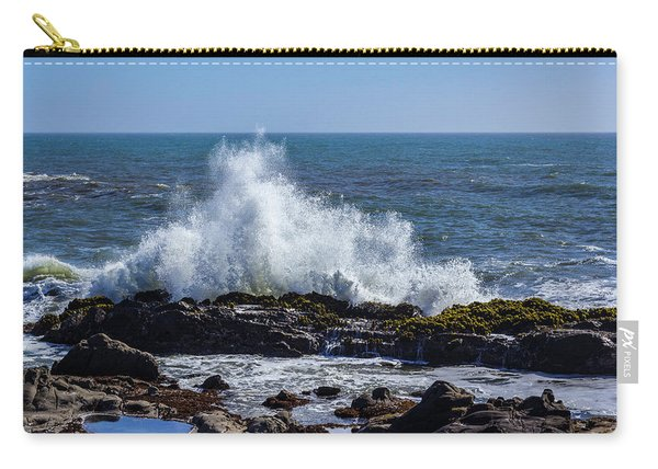 Wave Crashing On California Coast 1 Carry-all Pouch