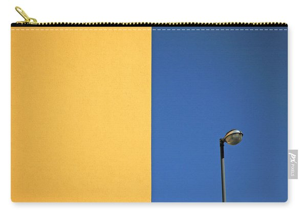 Half Yellow Half Blue Carry-all Pouch