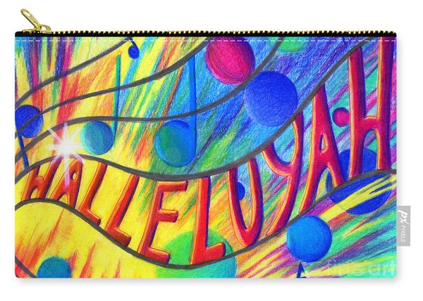 Carry-all Pouch featuring the painting Halleluyah by Nancy Cupp