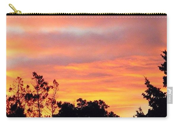 #halloween #morning #sky Is On #fire Carry-all Pouch