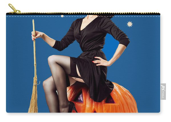 Halloween Night Witch Carry-all Pouch