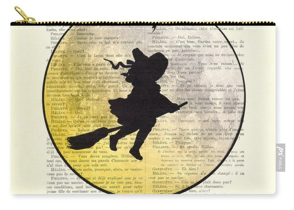 Witch Flying With Full Moon Carry-all Pouch