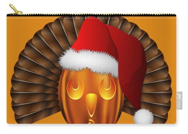 Hallowgivingmas Santa Turkey Pumpkin Carry-all Pouch