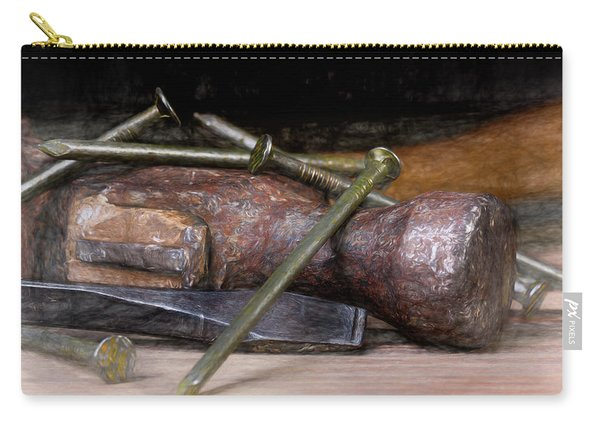 Hammer And Nails Carry-all Pouch