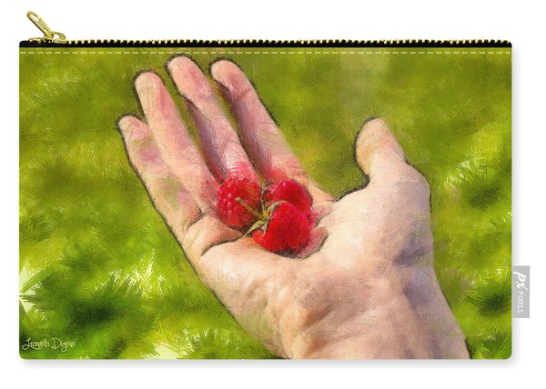 Hand And Raspberries - Da Carry-all Pouch