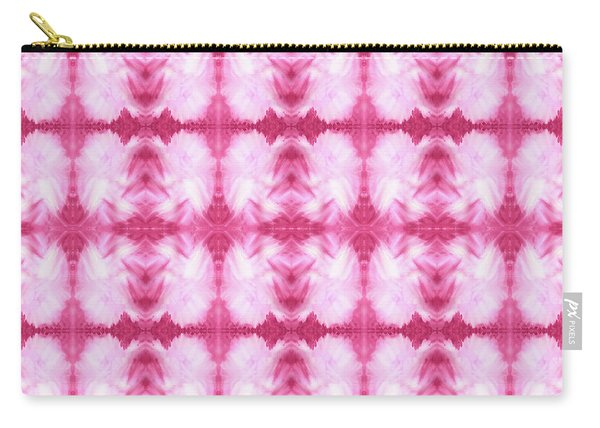 Hand-painted Abstract Watercolor In Dark Pink And White Carry-all Pouch