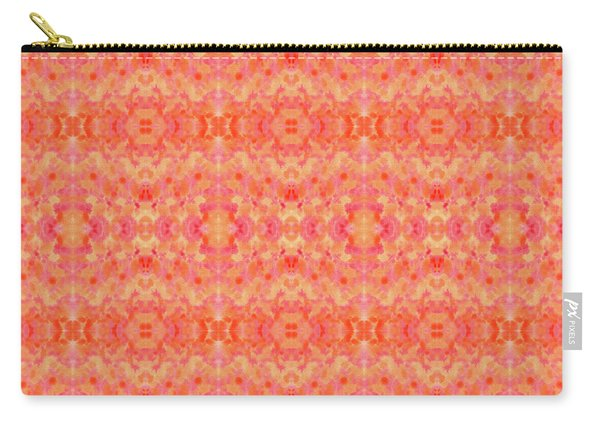 Hand-painted Abstract Watercolor In Orange Tangerine Carry-all Pouch