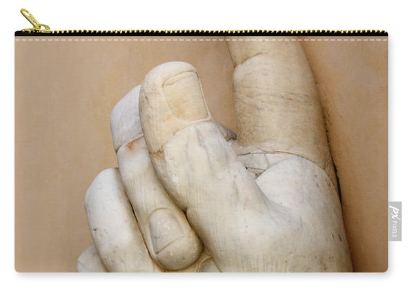 Hand With Pointing Index Finger. Statue Of Constantine. Palazzo Dei Conservatori. Capitoline Museums Carry-all Pouch