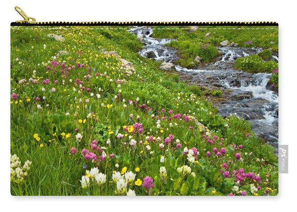 Handie's Peak And Alpine Meadow Carry-all Pouch