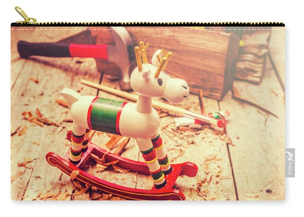 Handmade Xmas Rocking Toy Carry-all Pouch