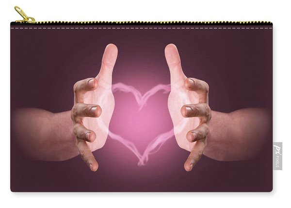 Hands Conjuring Heart Vapor Carry-all Pouch