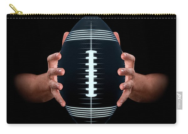 Hands Gripping Football Carry-all Pouch