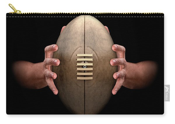 Hands Gripping Rugby Ball Carry-all Pouch
