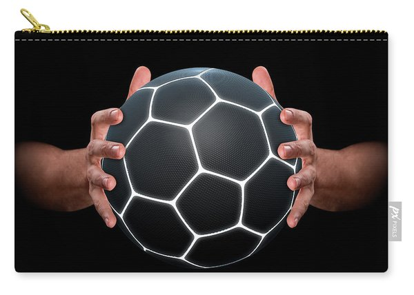 Hands Gripping Soccer Ball Carry-all Pouch