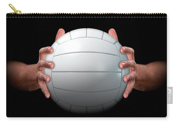 Hands Gripping Volleyball Carry-all Pouch