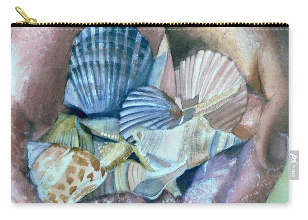 Hands With Shells Carry-all Pouch