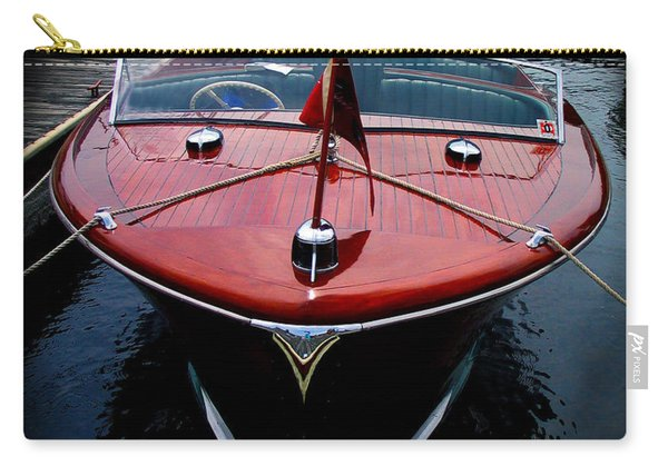 Handsome Wooden Boat Carry-all Pouch