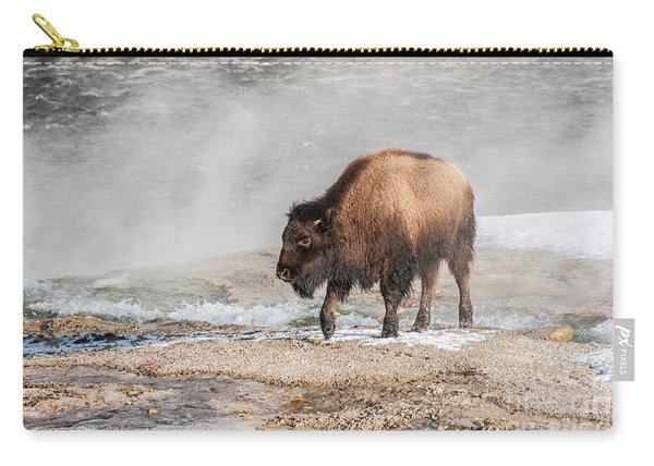 Handsome Young Bison Carry-all Pouch