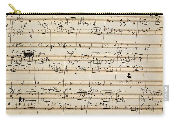 Handwritten Score For Herzliebster Jesu, Chorale Prelude Number 2 Carry-all Pouch