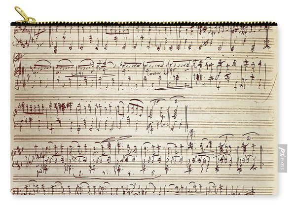 Handwritten Score For Waltz For Piano, Opus 39 Carry-all Pouch
