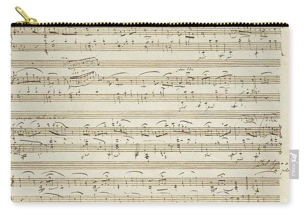 Handwritten Score For Waltz In Flat Major Carry-all Pouch