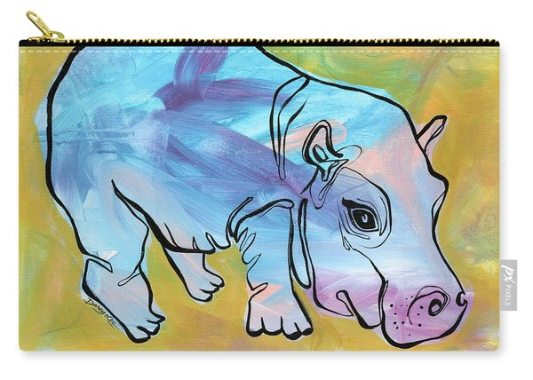 Happily Hippo Carry-all Pouch