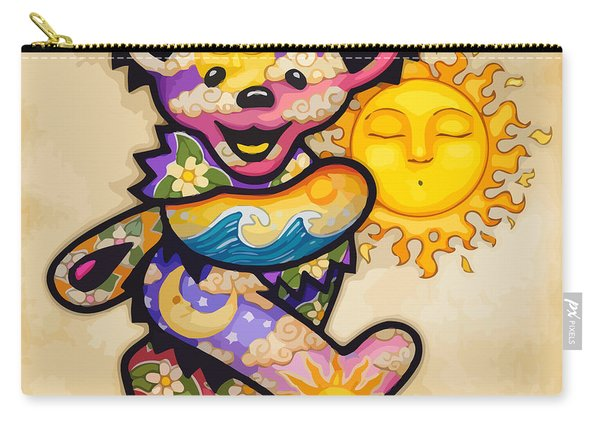 Happy Bear And Sun Carry-all Pouch