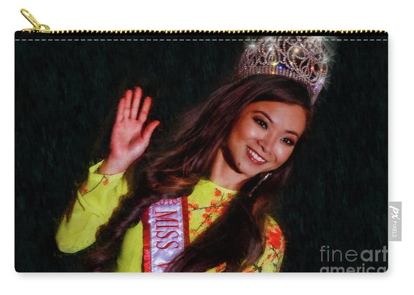 Happy Beauty Queen Wave Carry-all Pouch