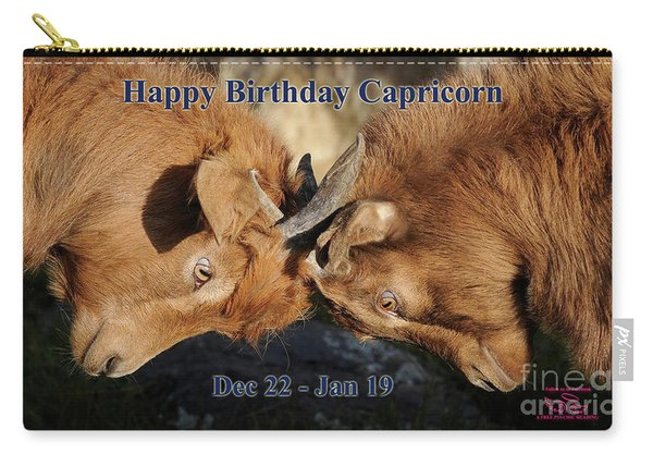 Happy Birthday Capricorn Carry-all Pouch