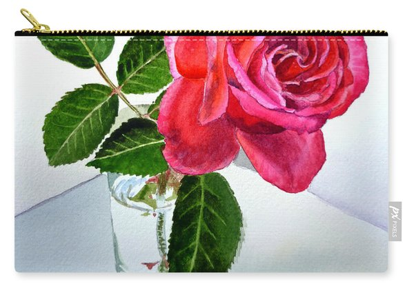 Happy Birthday Card Rose  Carry-all Pouch