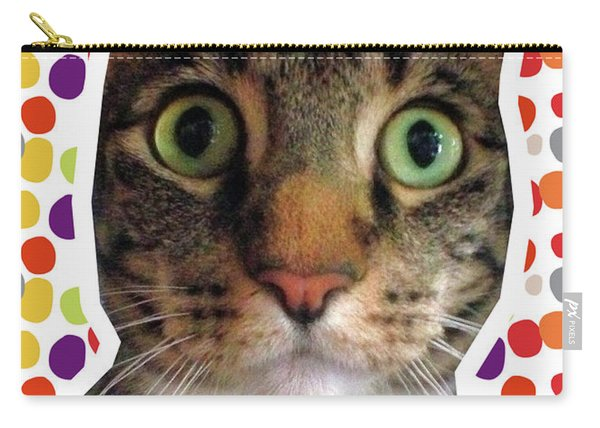 Happy Birthday Cat- Art By Linda Woods Carry-all Pouch