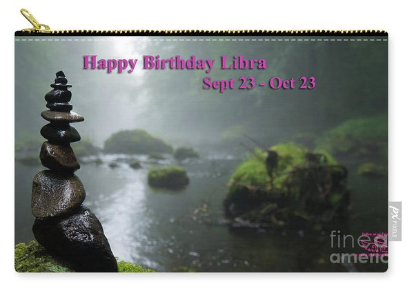 Happy Birthday Libra Carry-all Pouch