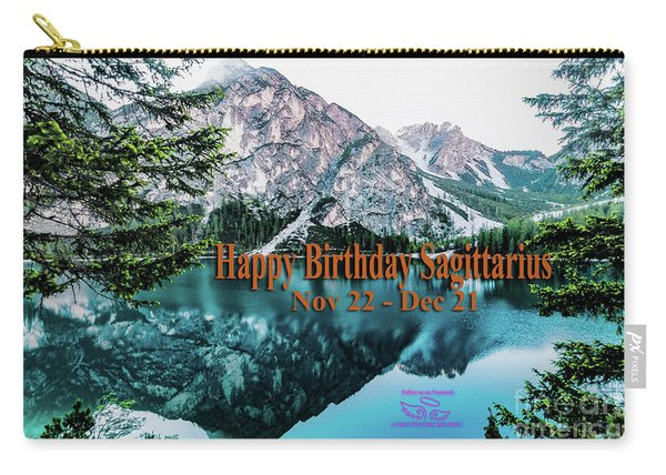 Happy Birthday Sagittarius Carry-all Pouch