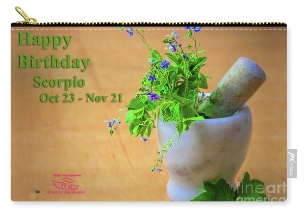 Happy Birthday Scorpio Carry-all Pouch