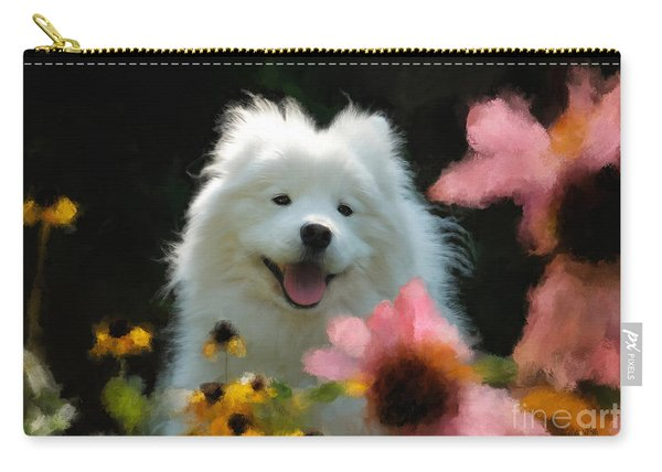 Happy Gal In The Garden Carry-all Pouch