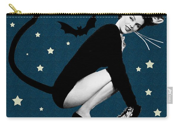 Happy Halloween From Cute Cat Woman Carry-all Pouch