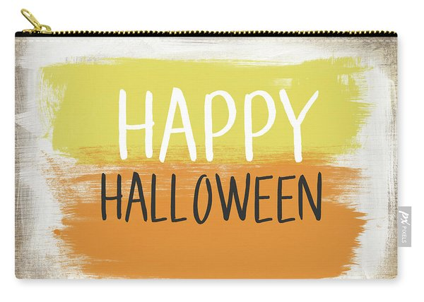 Happy Halloween Sign- Art By Linda Woods Carry-all Pouch