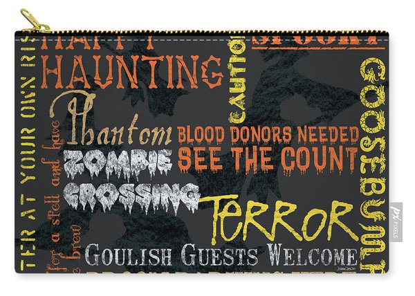 Happy Haunting Typography Carry-all Pouch