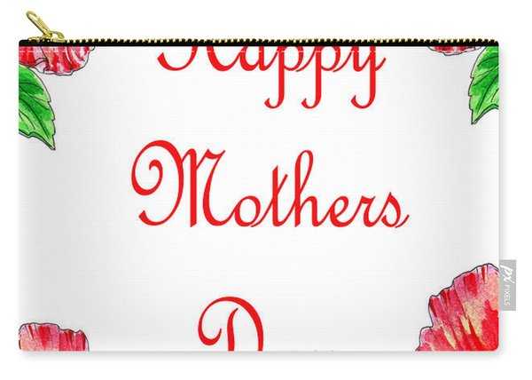 Happy Mothers Day Hibiscus Carry-all Pouch