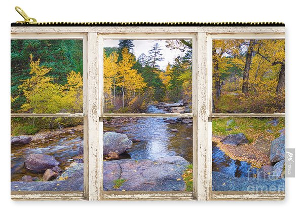 Happy Place Picture Window Frame Photo Fine Art Carry-all Pouch
