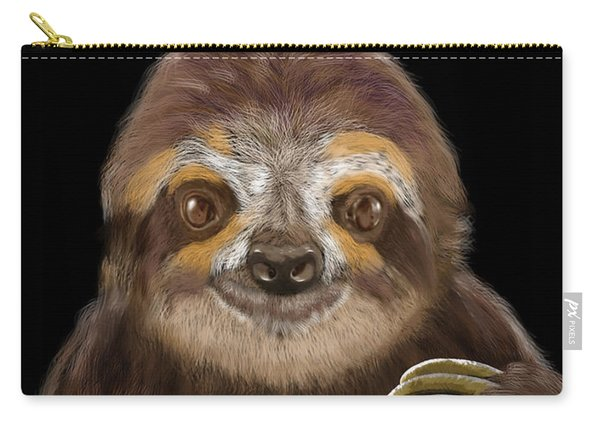 Happy Three Toe Sloth Carry-all Pouch