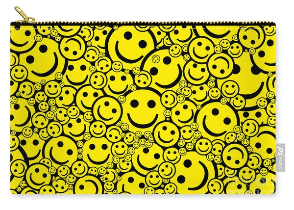 Happy Smiley Faces Carry-all Pouch