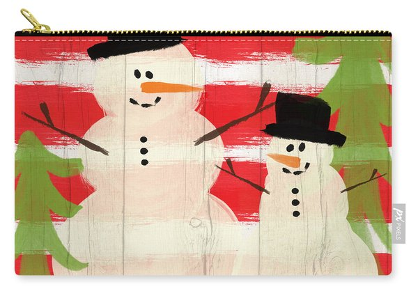 Happy Snowmen- Art By Linda Woods Carry-all Pouch