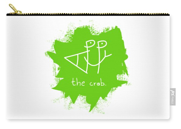 Happy The Crab - Green Carry-all Pouch