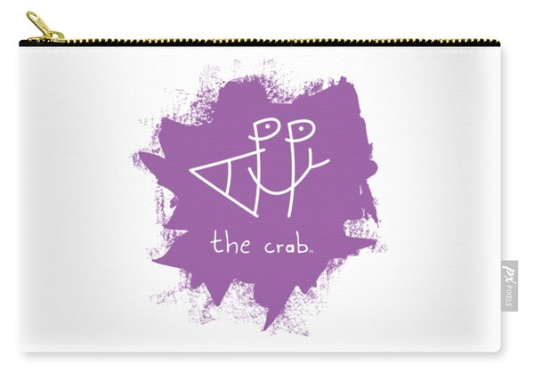 Happy The Crab - Purple Carry-all Pouch